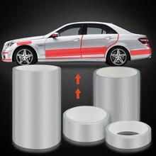 Универсальный автомобильный противоскользящая полоса углеродное волокно бампер автомобиля и защищенная от царапин порог машины пленка край двери обода защитный автомобильный Стикеры