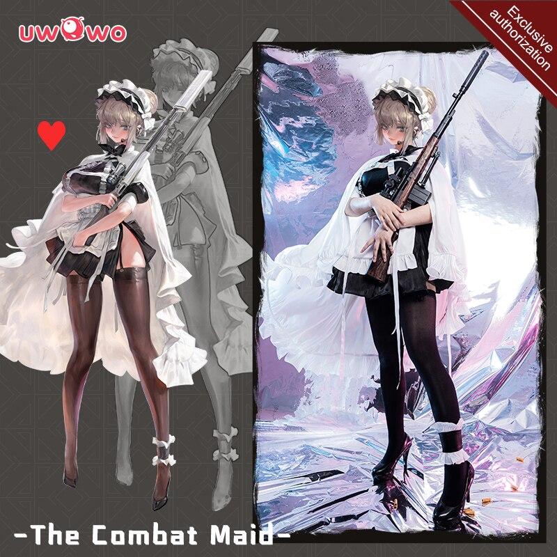 Pre-sale Maid Dress Cosplay Exclusive authorization Uwowo x AGOTO: Combat Series ♥ Heart Costume Apron