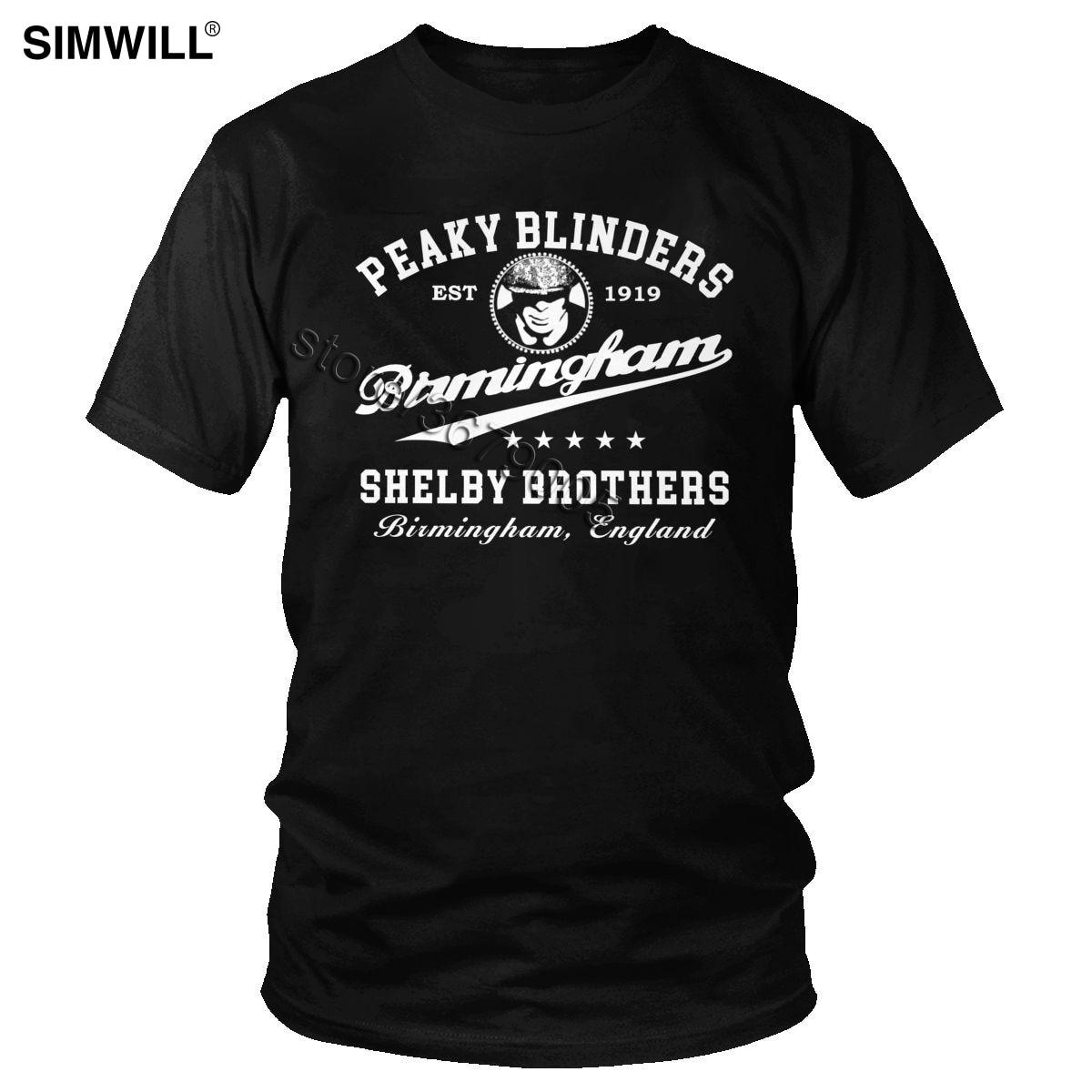 Vintage peaky blinders t camisa dos homens de algodão ventilador tv camiseta de manga curta streetwear tommy shelby t merch presente roupas birmingham