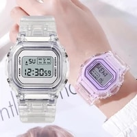 new fashion transparent electronic watch led ladies watch sports waterproof electronic watch candy multicolor student gift