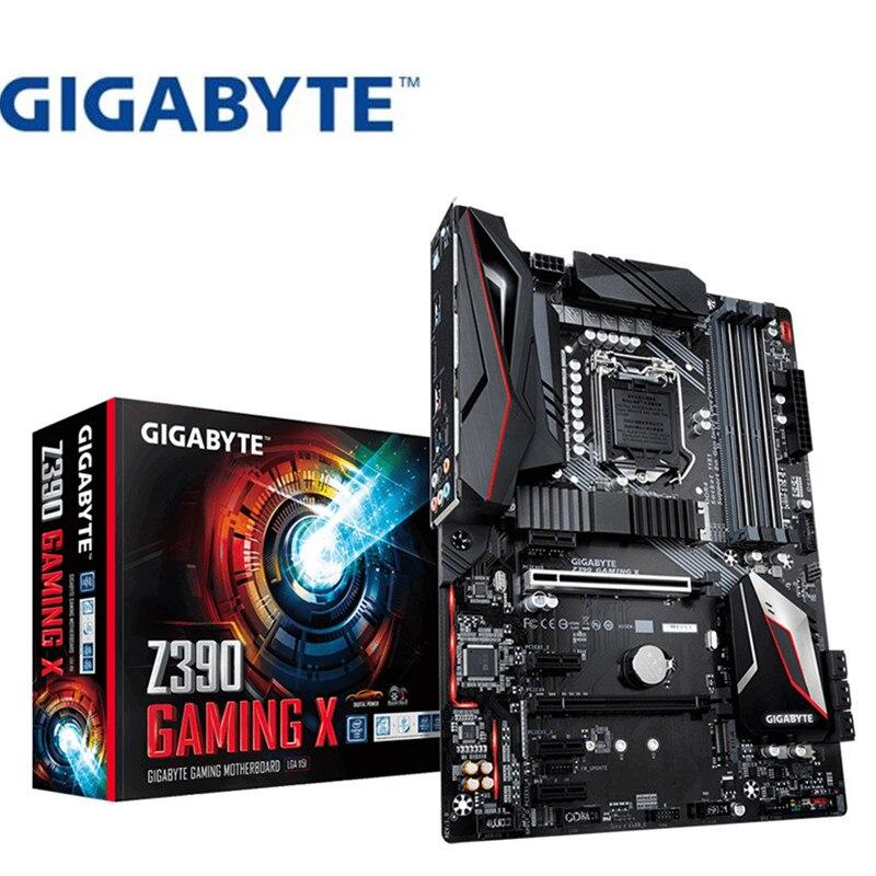 Por Gigabyte Z390 Juegos X Original nuevo placa base tablero de juego de 1151 pin de la placa base de apoyo 8700K 9900K