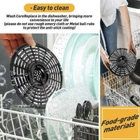 grill pan round dishwasher safe crisper plate replacement parts air fryer with handle home kitchen solid cookware non stick
