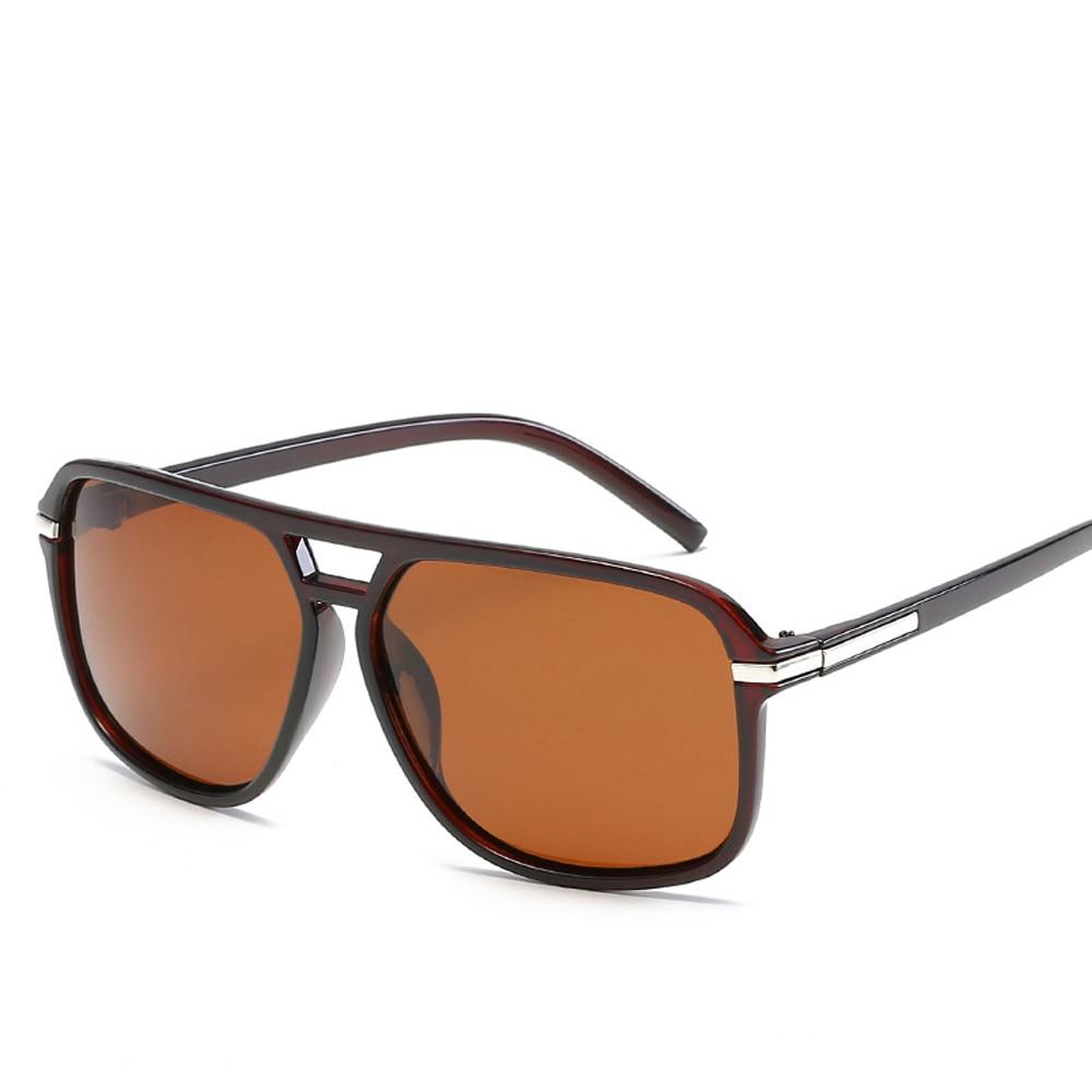 XaYbZc Oversized Sunglasses Men Polarized Mirror Goggles Driving Sun Glasses Man Brand Designer Retr