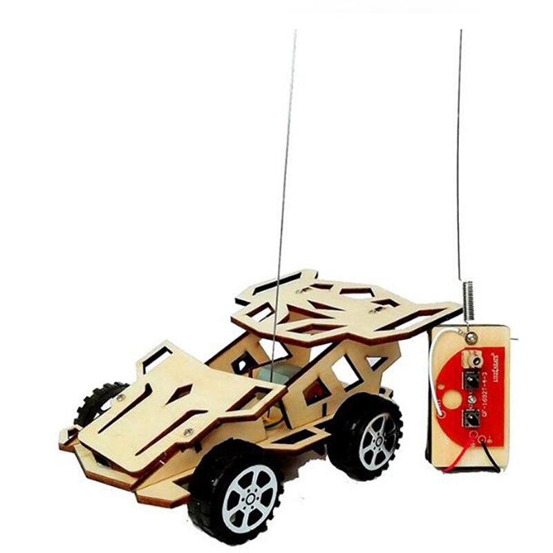 Kids DIY Wireless RC Racing Car Model Scientific Experiment Kit Educational Toy