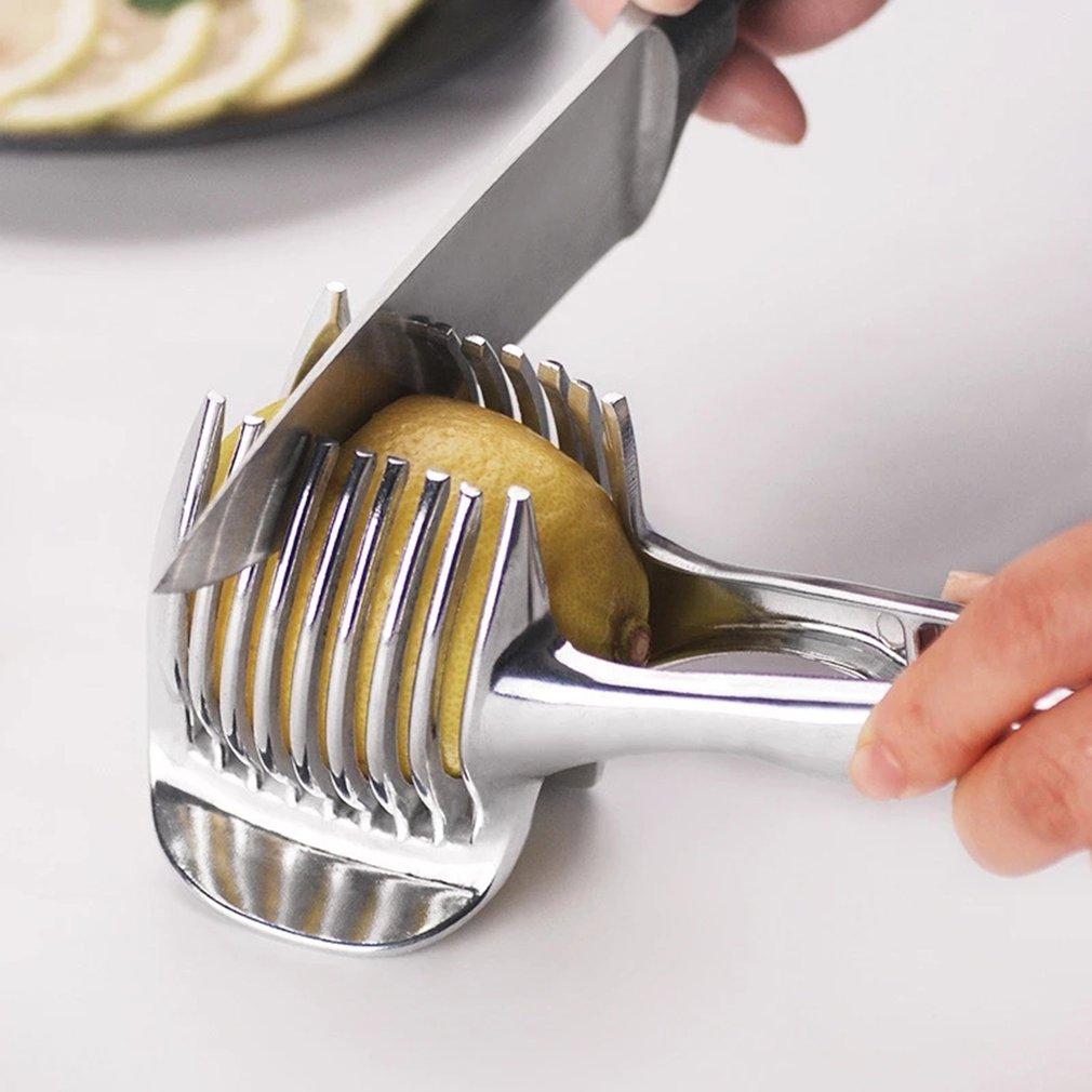 الليمون تقطيع الفاكهة أداة قطع الليمون شرائح أداة القطع مع ورقة الربيع سميكة تلقائيا انتعاش أداة