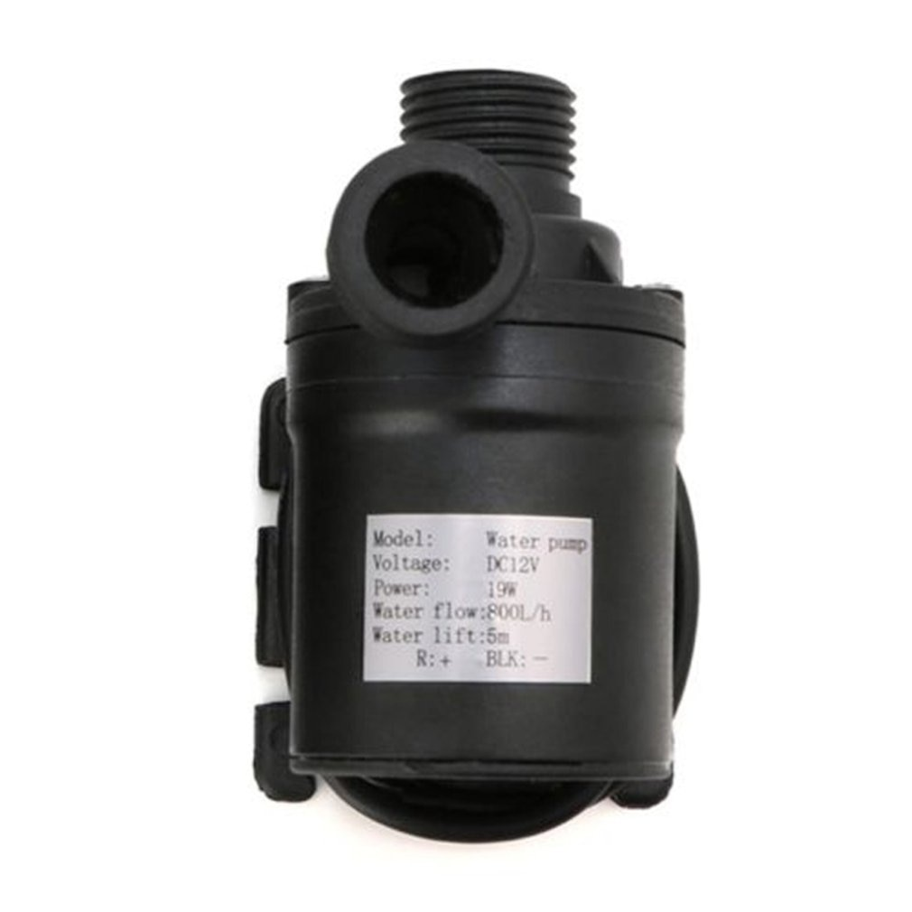 mayitr dc 12v 19w ultra quiet mini motor submersible water pump ip68 800l h brushless pump for aquarium fountain air fish tank Ultra Quiet Mini DC12/24V 800L/H Brushless Motor Submersible Water Pump Electric Heat Resistant
