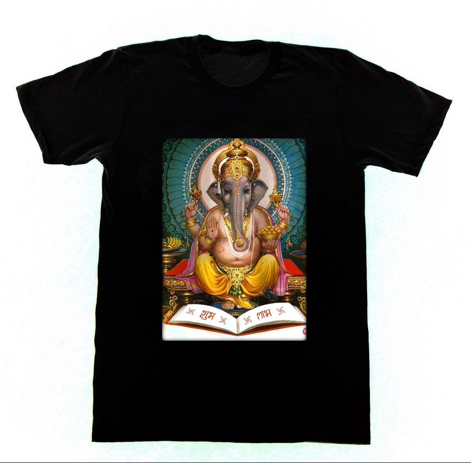 Футболка Ganesh Kali Shiva Krishna Hinduism Yogaer мужская летняя с круглым вырезом из хлопка обычная|Футболки| | АлиЭкспресс