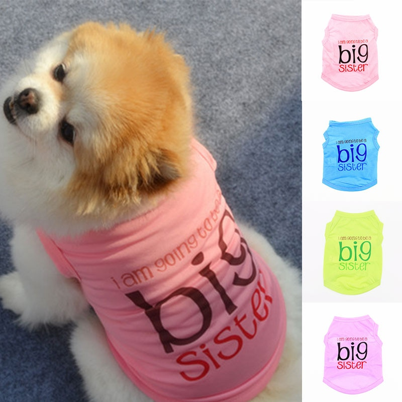 Letter Printed Small Dog Vest Spring Summer Polyester Thin Puppy Pet Clothes Supplies Soft Comfortable Pashion Pet Dog Vest