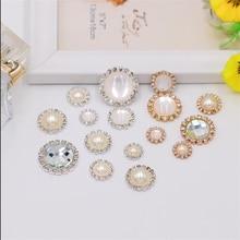 10pcs 14 17 19mm Cat Eye Decoration Button DIY Flatback Bead Handwork Accessories Wedding Crafts Bro