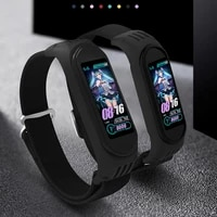 for xiaomi mi band 3 4 5 6 strap for mi band 3 watch bracelets watchbands watches accessories stretch nylon strap black pink
