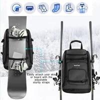 50l high capacity ski backpack nylon waterproof wear resistant can be installed ski bootshelmets goggles clothing ski board