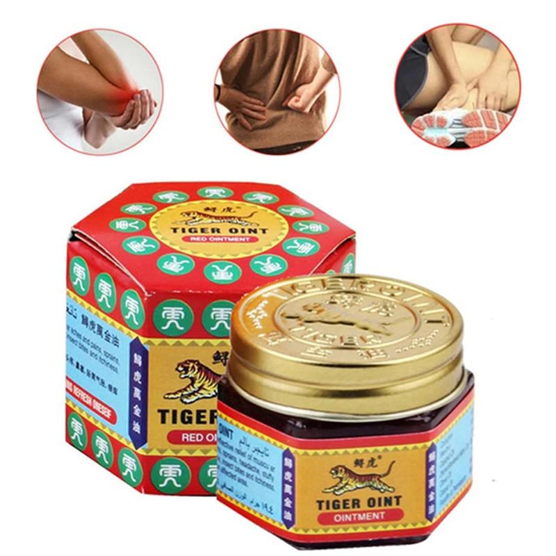 Dropship 1 Uds 100% Original Tigre rojo bálsamo ungüento Tailandia indoloro ungüento músculo alivio pomada Soothe Itch 19,5g