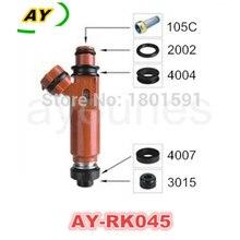 Highlander auto parts fuel injector repair kits 500Sets/2500pcs seals rebuild kits filter oring seals AY-RK045)