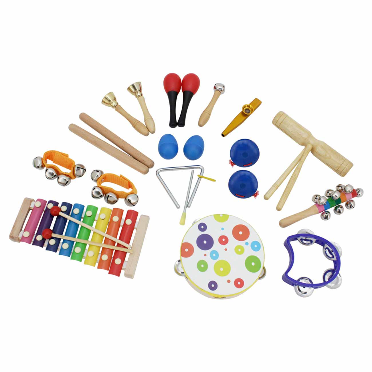 19pcs Percussion Instruments Toys Kit Kid Musical Toys Set Birthday Gift for Toddlers Preschool Children Early Education enlarge