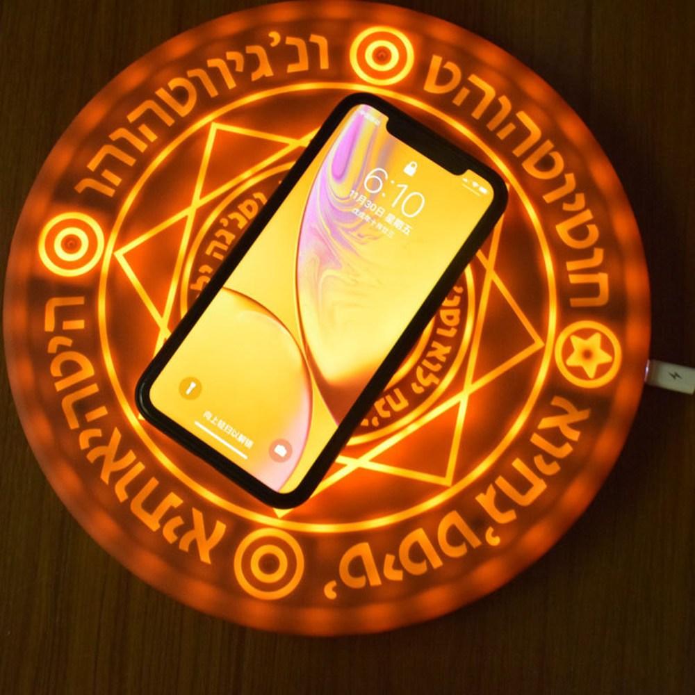 شاحن لاسلكي عالمي Qi سريع الشحن ، مجموعة سحرية 10 وات ، شاحن لاسلكي عالمي لهاتف iPhone Samsung