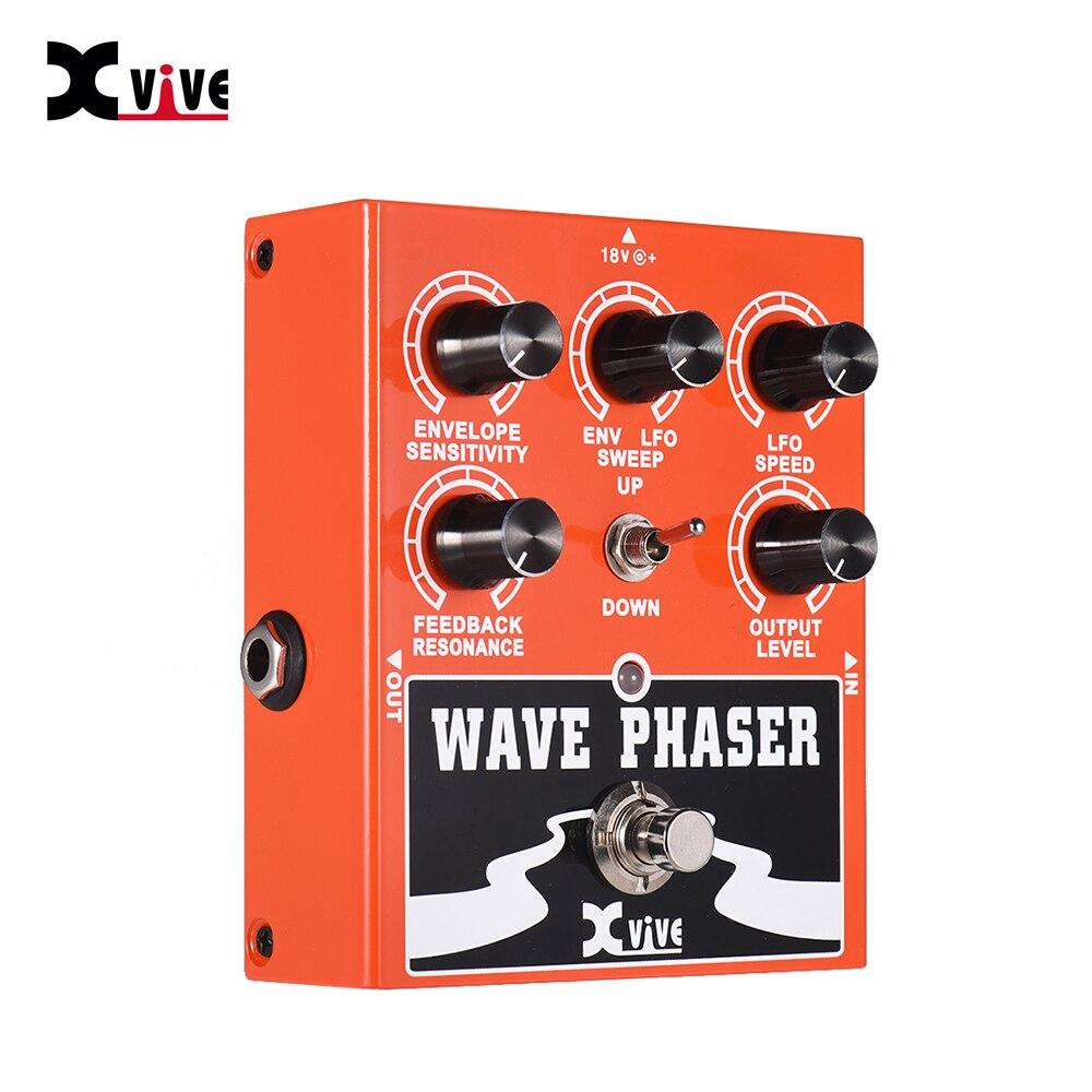 Sintonizador de guitarra de Bypass verdadero, piezas de procesamiento de sonido, Pedal de efecto de guitarra Phaser Wave, carcasa totalmente de Metal