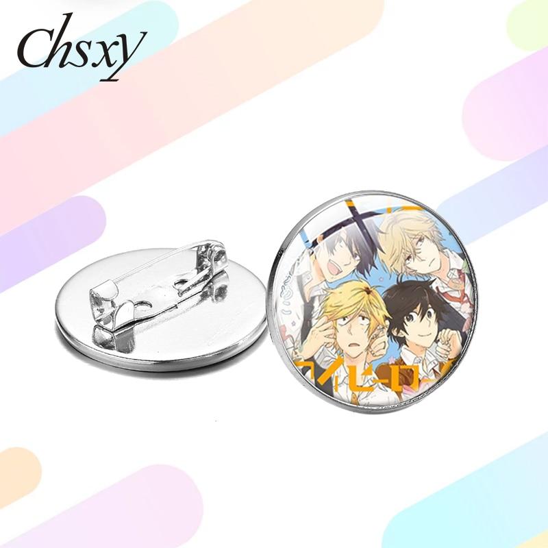 Chsxy novo hitorijime meu herói tempo gem broche anime cosplay crachás fãs coleção decorado pinos botão para mochila jeans camisa