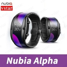 Globale Version Original ZTE Nubia alpha Smart Band 4,01 zoll faltbare flexible Snapdragon 8909W Bluetooth rufen Mid-air gesten
