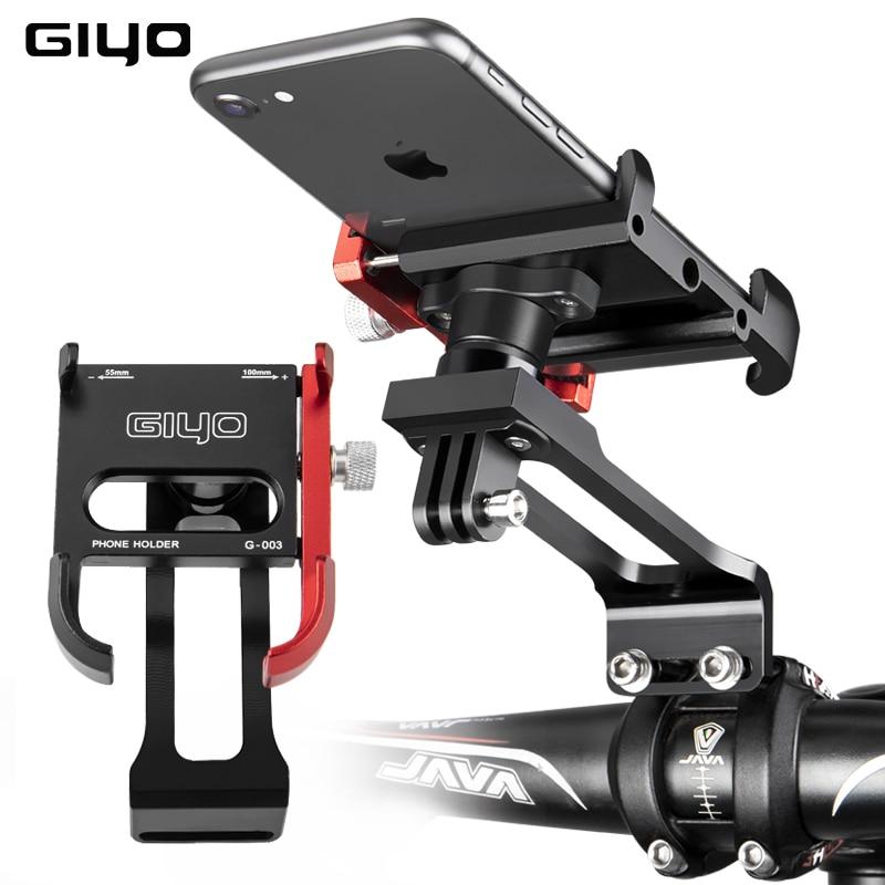 GIYO 2021 Bike Phone Mount Bicycle Stem Handlebar Cell Phone Holder Universal MTB Road Bike Accessories Cycling Smartphone Mount