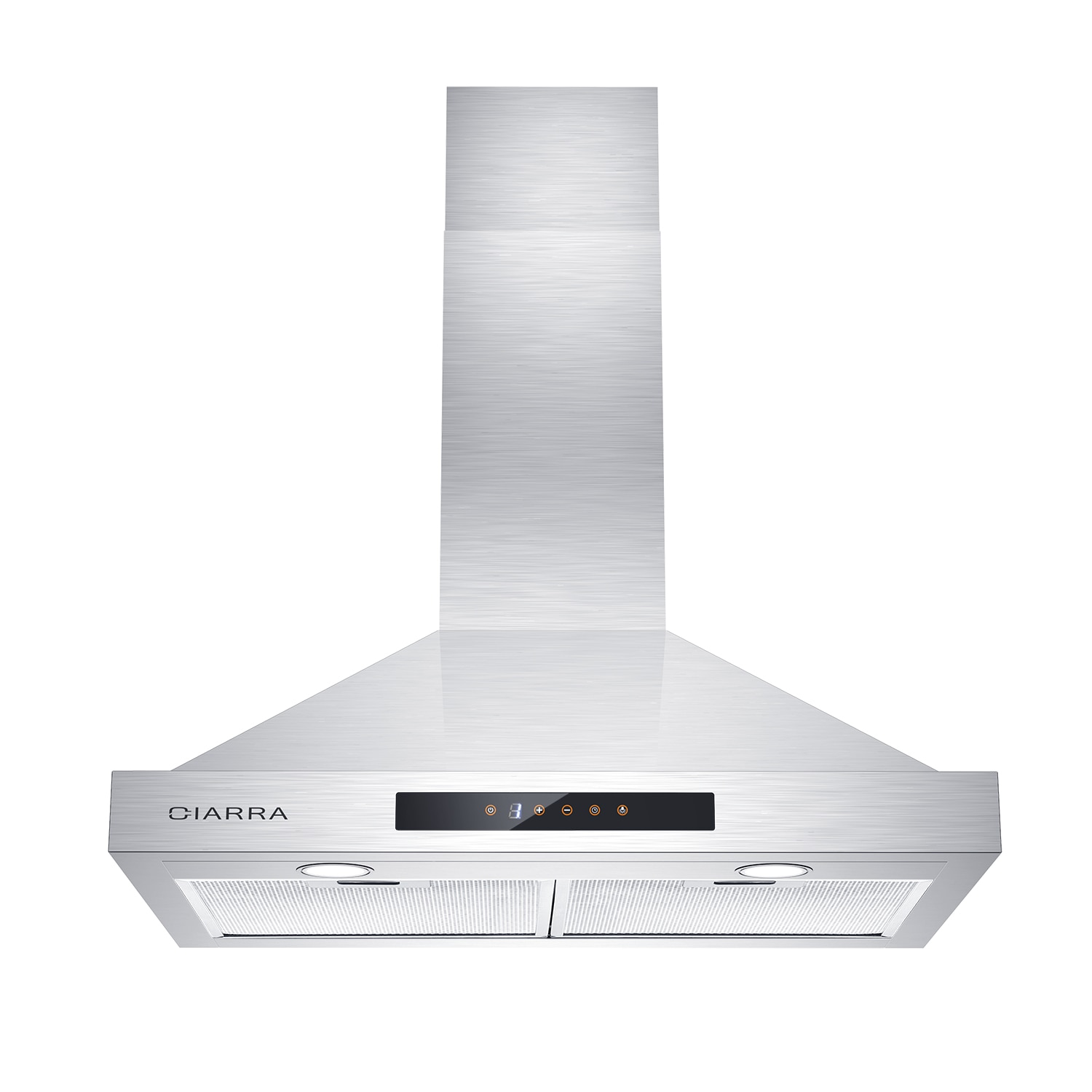 CIARRA CAS75308 30inch Range Hood, 450 CFM Stainless Steel Vent with 3 Speed Exhausted Fan, Touch Control Wall Mounted