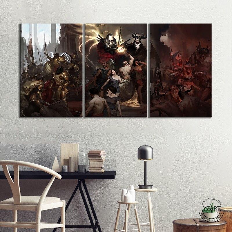 Diablo 4 inarius lilith imagem óleo pianting jogos de vídeo arte decoração da parede pinturas hd imagem da parede para sala estar decoração