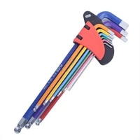 hex key wrench set with ball end l type hexagon flat ball spanner metric hand tools set of 9