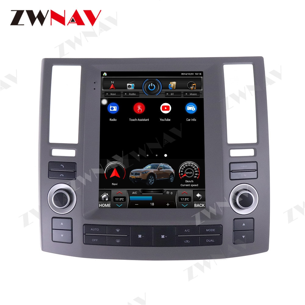 Navegación GPS Android 8,1 estilo Tesla para Infiniti FX35 FX45 FX25 FX37 Radio Estéreo reproductor Multimedia 2006-2009