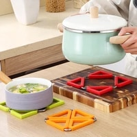 foldable pot mat wheat straw heat insulation antiskid table mat family safety home non slip creative deformable casserole pad