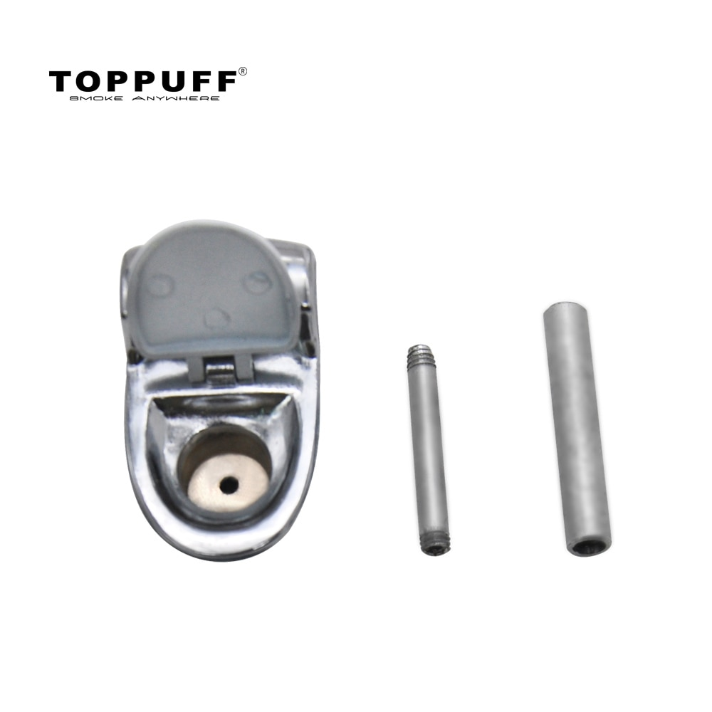 Купить с кэшбэком TOPPUFF Toilet Model Metal Smoking Herb Pipe 95 MM With Metal Bowl Ceramic Tobacco  Pipe Cigarette Accessories Pocket Size