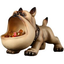 French Bulldog Art Sculpture Geometric Dog Statue Animal Storage Box Resin Crafts Multi-Function Key Storage Decorations R4810