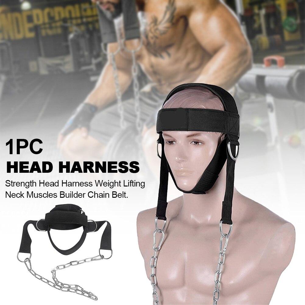 Entrenador resistente, fuerza de levantamiento de pesas, culturista de cuello, cinturón ajustable, equipo de grillete D, arnés de cabeza, gimnasio, Fitness