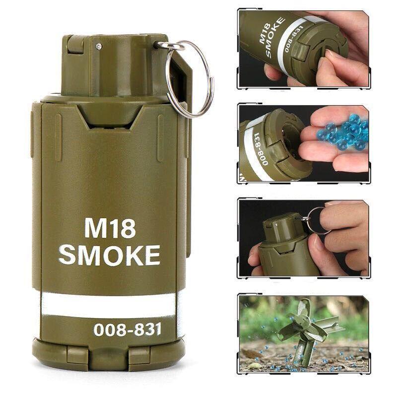 Детская игрушка гелевый шар съедобная курица Водяная бомба шахтная бомба взрыв M18 металлическое тяговое кольцо G17 ручная Взрывная бомба