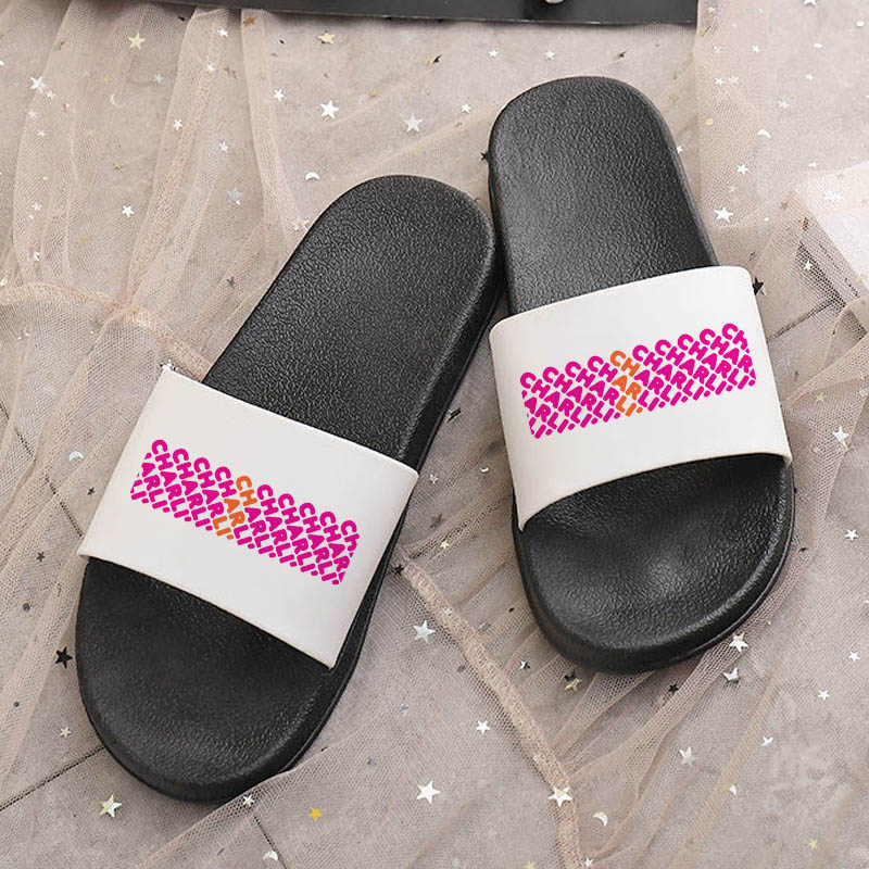 2021 Customized Slippers Open Toe Flip Flops for Women Home Shoes Summer Beach Flat Slippers Indoor