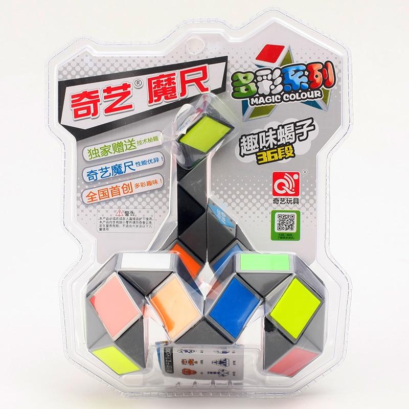 Original Qiyi 24 36 72 Segments Magic Rule Snake multi-color 3d puzzle fidget gam Fidge Cube Twist Transformable Kid Puzzle Toy