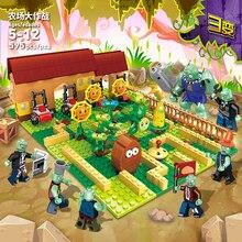 595 pièces blocs de construction briques ensemble plantes Vs. Zombies ferme jeu jouets pour filles garçons enfants modèle Kit cadeau bricolage