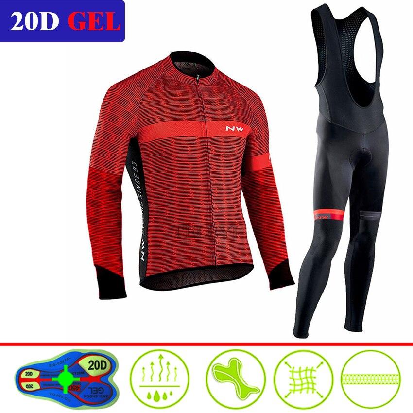 2020 NW Conjunto de Jersey de ciclismo profesional de manga larga bicicleta de montaña ropa de ciclismo transpirable MTB ropa de bicicleta desgaste traje para hombres