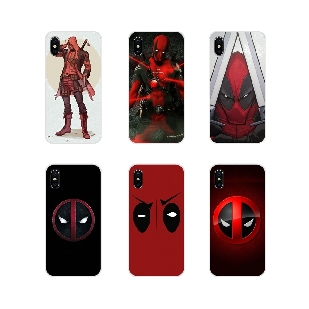 Para iPhone X de Apple XR XS 11Pro MAX 4S 5S 5C SE 6 6S 7 7 Plus ipod touch 5 6 cubiertas de los casos del teléfono Deadpool Marvel Wade Winston Wilson