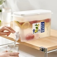 4 53 5l refrigerator cold kettle with faucet household lemonade bottle drinkware cold water bottle container for kitchen