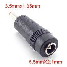 1/5/10 sztuk DC kobiecy męski zasilacz DC 5.5x2.1mm do 3.5x1.35mm złącze wtyk Laptop kable H10
