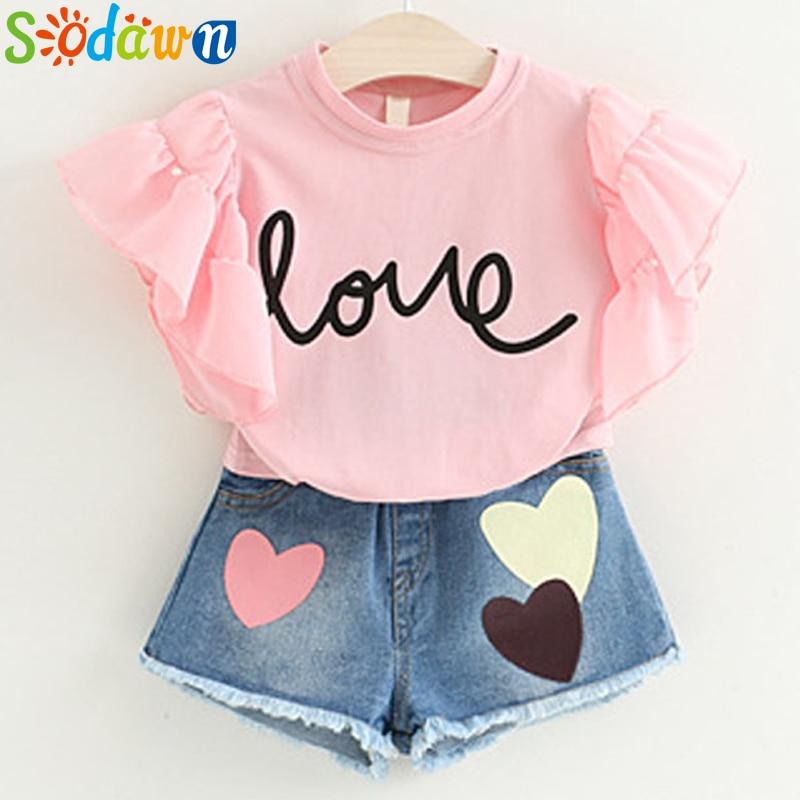 Sodawn 2020 Summer Style Girls Dress Girls Clothes Fashion Children Vest Cowboy Dress Children Clothing Party Princess Dress