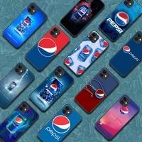 pepsis phone case for iphone 5 5s se 2020 6 6s 7 8 plus 11 12 mini x xs xr pro max black hoesjes 3d shell trend coque pretty