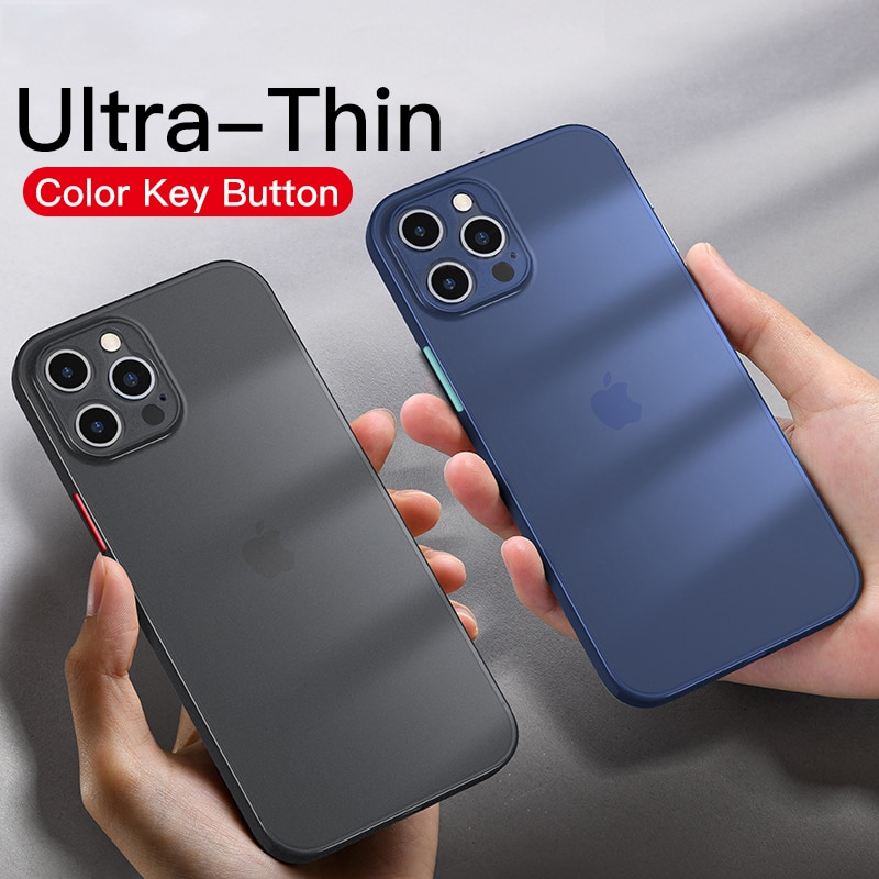 Capa de telefone para iphone 12 11 12pro max xr xs max x 7 8 plus 12mini 12pro ultra fino