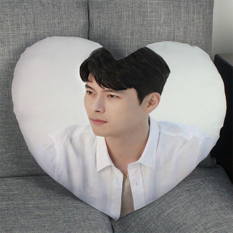 Горячая Распродажа Actor Hyun-Bin чехол для подушки в форме сердца