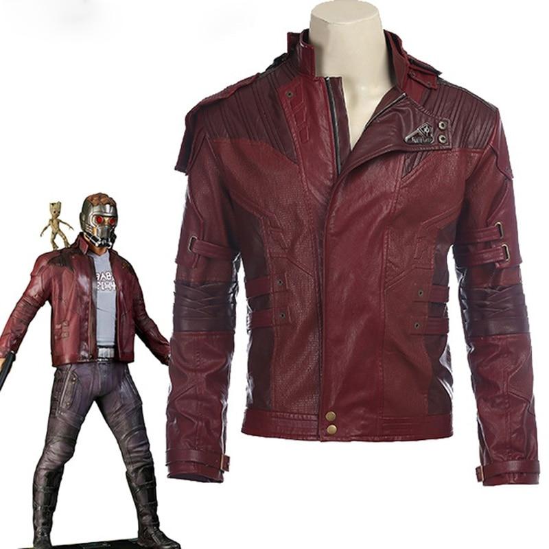 Star Herr Jacke kurze jacke cosplay Halloween kostüm Guardians Of The Galaxy 2 Star Herr cosplay kostüm leder jacke