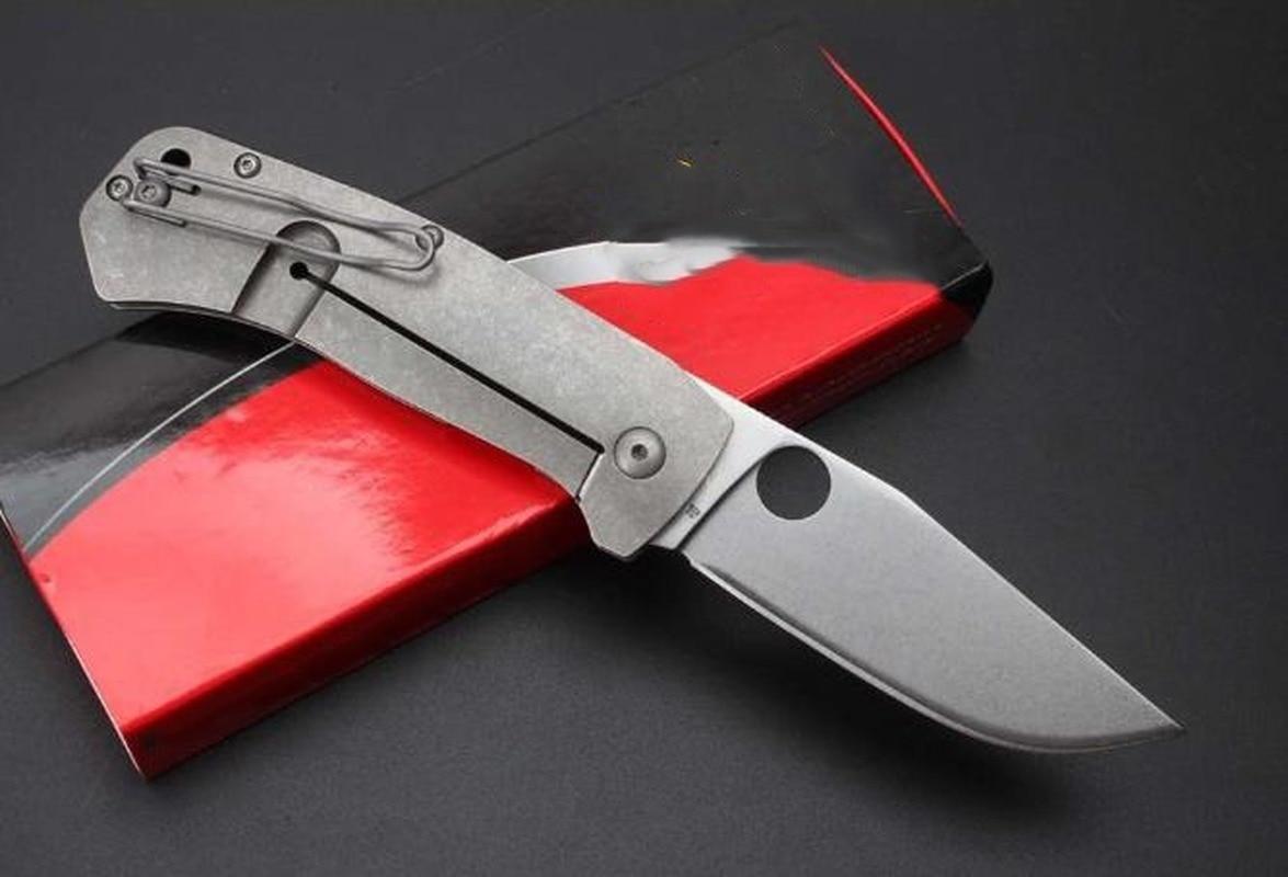 Titanium Alloy Handle Saber High Hardness Folding Knife D2 Blade Outdoor Self Defense Safety Pocket EDC Tool DJ67 enlarge