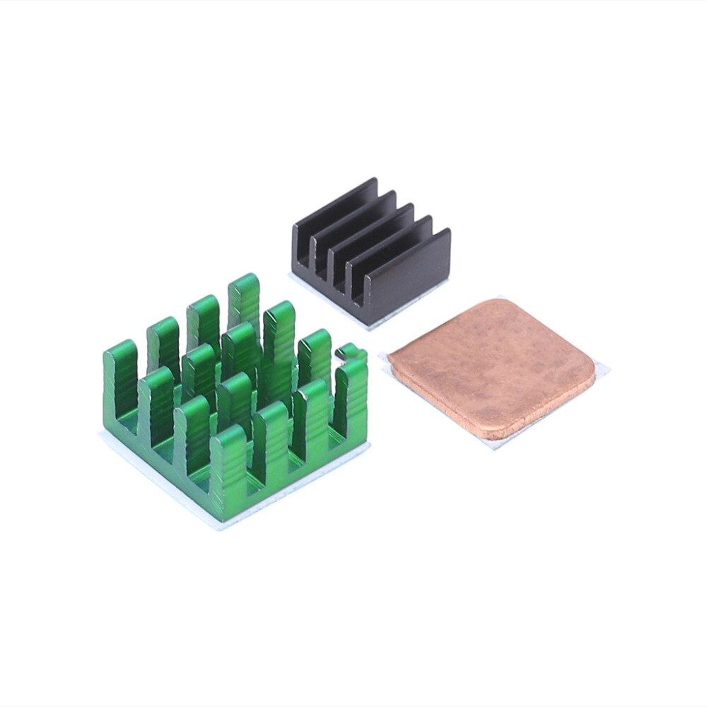 Aluminum and Copper Heat sink Cooler Cooling Modlue Kit for Raspberry Pi 3, Pi 2, Pi Model B+ uk rs raspberry pi 3 kit russian spanish english mini keyboard 16g sd card 2 5a power supply case heat sink hdmi cable