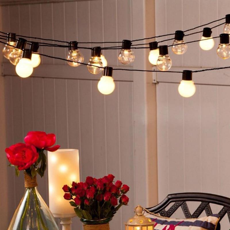 Guirnalda de luces led 6m 20 para boda, guirnalda de luces LED para Navidad, guirnalda de luces led para exterior, fiesta, jardín