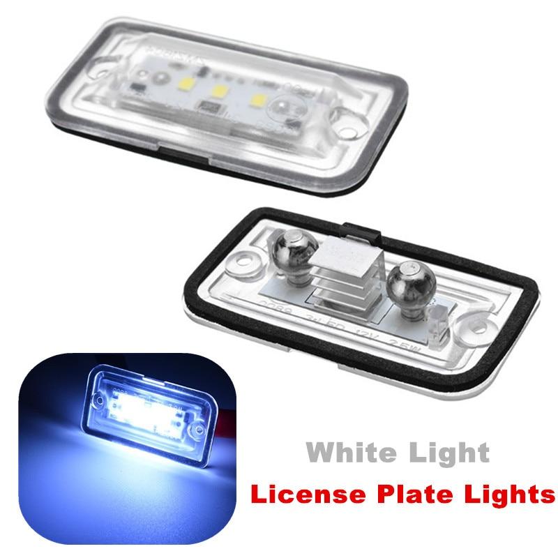 2 uds luces blancas de LED para matrícula de coche de 6000K ABS para mercedes-benz C W203 sedán CLK W209 A209 C209 SL R230 iluminación uniforme