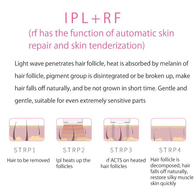 IPL+RF Hair Removal Laser Epilator Permanent Painless Depilation  Sliding Continuous Flashing full body Epilation enlarge