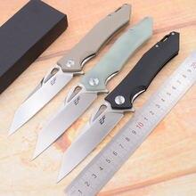 Eafengrow marca 3rd anniversary g10 lidar com lâmina de aço real d2 caça acampamento sobrevivência ao ar livre bolso edc ferramenta utilitário faca dobrável